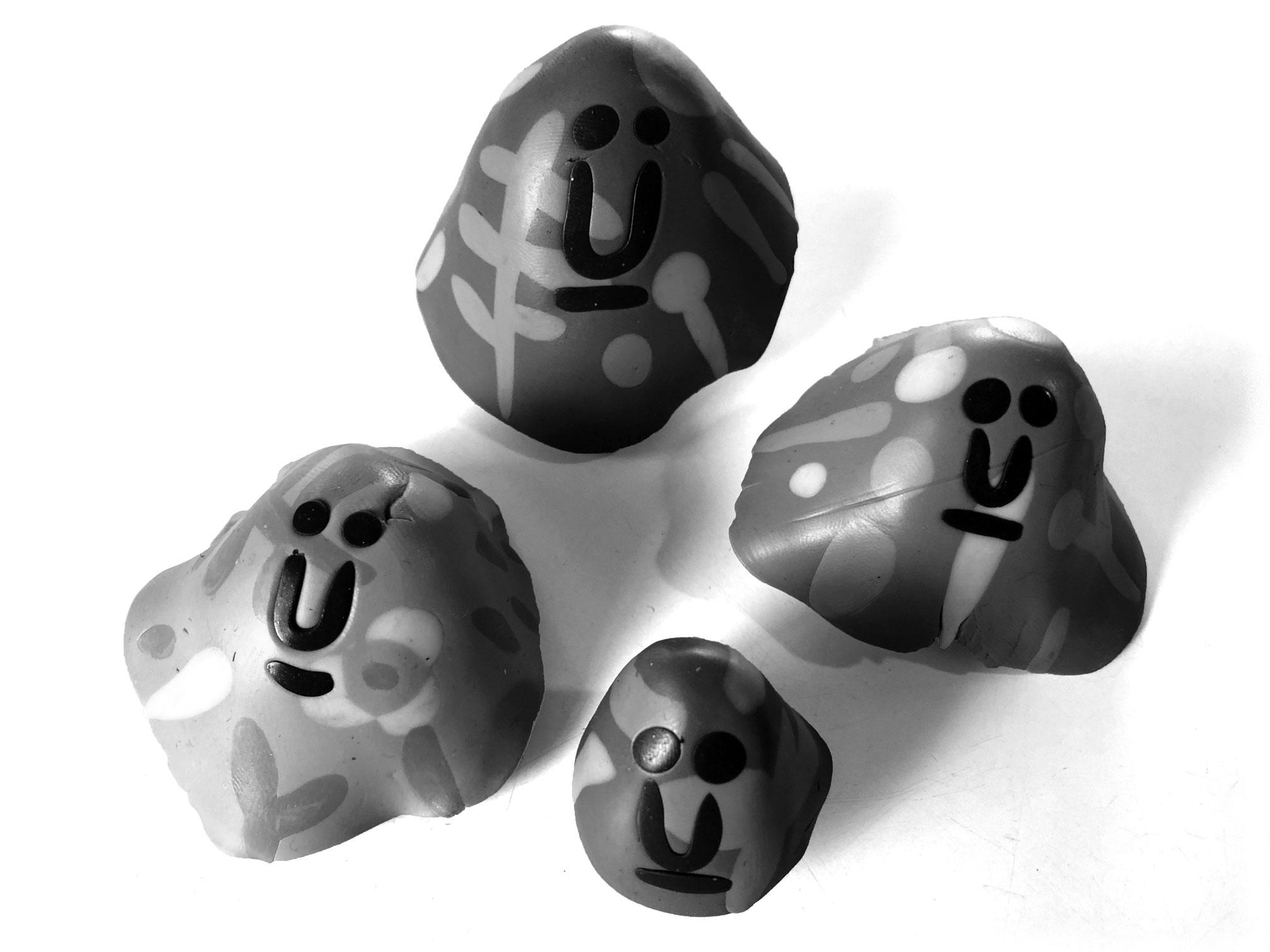 Four Fimo Grugs